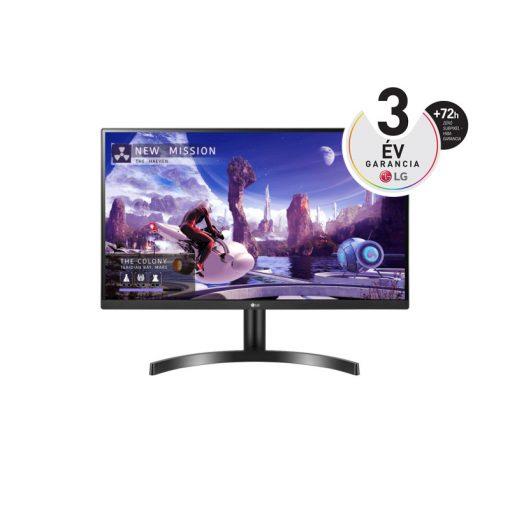 """LG 27"""" 27QN600-B 27' 4K QHD IPS HDR10-zel és AMD FreeSync™ technológiával"""