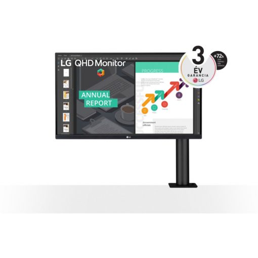 """LG 27"""" 27QN880-B 27' QHD IPS HDR10-zel és AMD FreeSync™ technológiával"""