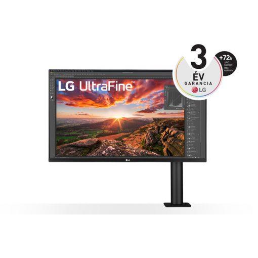 "LG 32UN880-B 31.5"" UHD 4K Ergo IPS monitor USB Type-C™ technológiával"