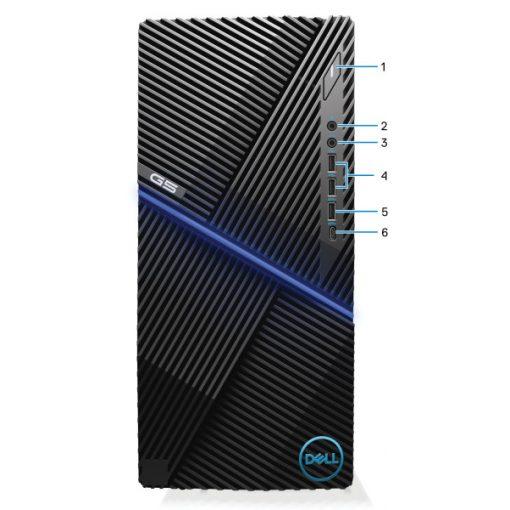 Dell G5 5000 Gaming számítógép W10Home Ci5 10400F 4.3GHz 8GB 512GB GTX1660/6G