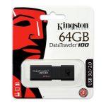 Kingston 64GB USB3.0 Fekete (DT100G3/64GB) Flash Drive