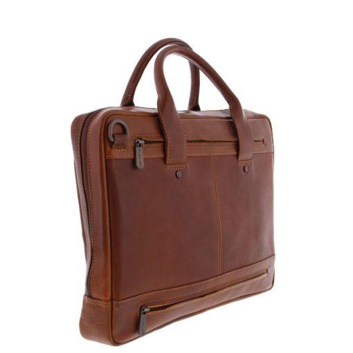 "Fujitsu - Plevier Loran 15 barna bőr notebook táska (15.6""-ig)"