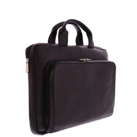 "Fujitsu - Plevier MOGGRIDGE 15 fekete puha bőr notebook táska (15.6""-ig)"