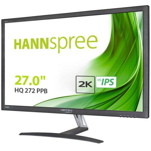 """HannSpree HQ272PPB 27"""" Black monitor 2560 X1440 QHD 2K 60HZ 5ms ECO Friendly"""