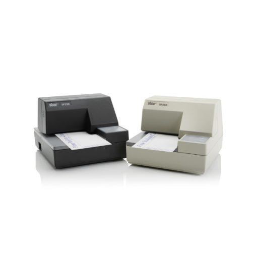 SP298, mátrixszalag/csekk nyomtató, csúszásgátló, soros, szürke, Tápegység szüks