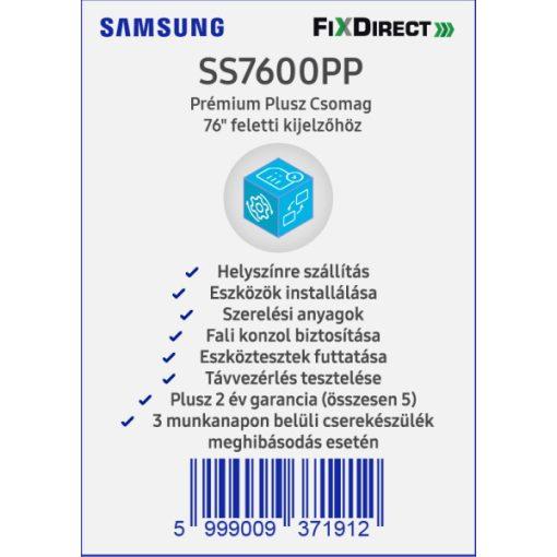 """Samsung 76"""" -tól Telepítési prémium Plusz csomag"""