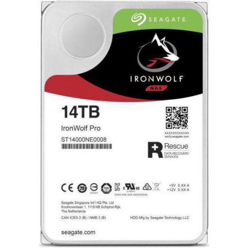 "Seagate IronWolf Pro HDD, 3.5"" 14TB, SATA3, 7200rpm 256MB"