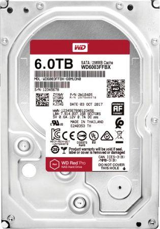 """Western Digital HDD 3,5"""" Red Pro 6TB HDD, SATA3, 7200rpm, 256MB"""